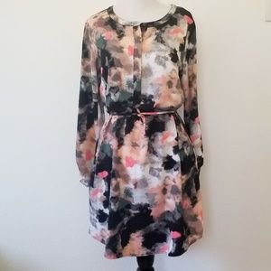 Merona Watercolor Dress (WITH POCKETS)
